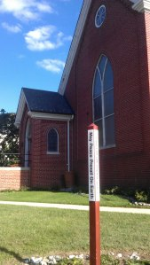 "The Peace Pole - English ""May Peace Prevail on Earth"". Our Peace Pole also has languages used by the Church of the Brethren around the world: Creole (Haiti), Spanish (congregations in the US and Puerto Rico, Dominican Republic, Spain)"